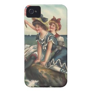 Fodral-Kompis för Babes för strand för iPhone 4 Case-Mate Skal