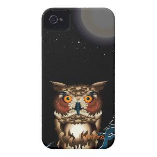 Fodral-Kompis för björnbär för nattuggla fodral iPhone 4 Case-Mate Fodral