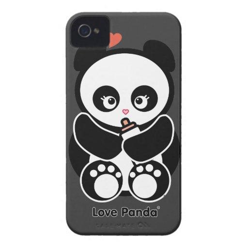 Fodral-Kompis för kärlekPanda® blackberry bold kna iPhone 4 Cases