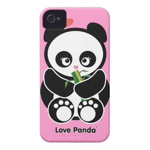 Fodral-Kompis för kärlekPanda® blackberry bold kna iPhone 4 Case-Mate Fodral