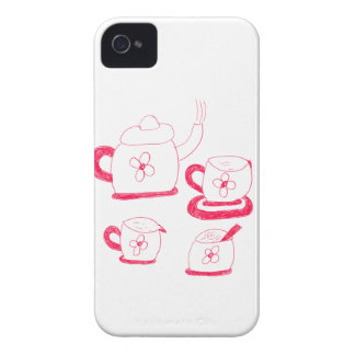 Fodral-Kompis för TeaTime iPhone 4/4S knappt där iPhone 4 Hud