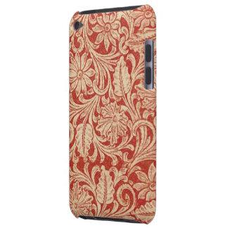 Fodral-Kompis för vintage damastast blom- rött iPod Touch Case-Mate Fodral
