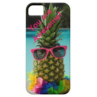 """Fodral """"rolig ananas """", iPhone 5 fodraler"""