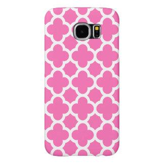 Fodral/shock rosa för Quatrefoil spaljégalax S6 Samsung Galaxy S6 Fodral