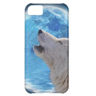 Fodral tjuta för arktisk varg- & för fullmåne II iPhone 5C Fodral