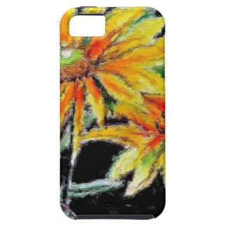 Fodral w/Sunflowers för Fodral-Kompis tufft iPhone iPhone 5 Case-Mate Skydd