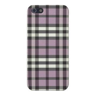 fodrallila för iPhone 4/svart plädmönster iPhone 5 Skal