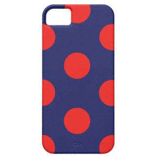 fodralpolkaen för iPhonen 5/5S pricker marinblått Barely There iPhone 5 Fodral
