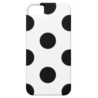 fodralpolkaen för iPhonen 5/5S pricker vit & iPhone 5 Case-Mate Fodraler