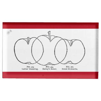 Fodrar Apple variationer 1903 teckningen Bordskorthållare