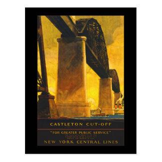 """""""Fodrar den Castleton Snitt-Av"""" New York centralen Vykort"""