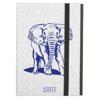 Fodrar den gulliga marinblåa elefanten för iPad air fodral