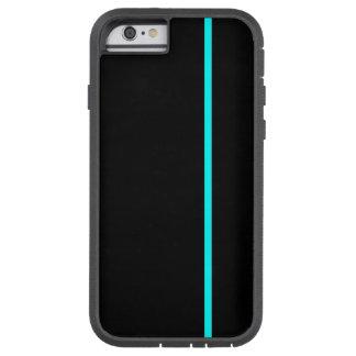 Fodrar den tunna lodrät för Aqua på svart Tough Xtreme iPhone 6 Case