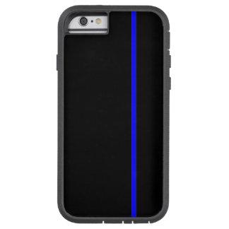 Fodrar den tunna lodrät för blått på svart tough xtreme iPhone 6 skal