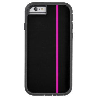 Fodrar den tunna lodrät för chockrosa på svart tough xtreme iPhone 6 fodral