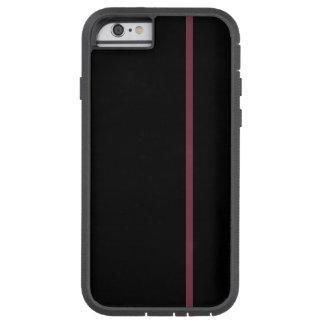 Fodrar den tunna lodrät för granatrött på svart tough xtreme iPhone 6 fodral