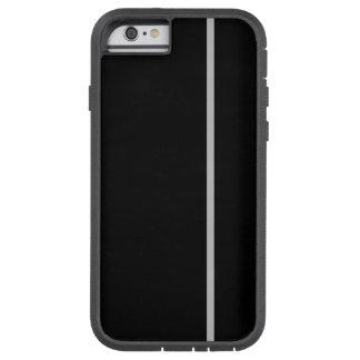 Fodrar den tunna lodrät för silver på svart tough xtreme iPhone 6 case