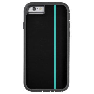Fodrar den tunna lodrät för turkos på svart tough xtreme iPhone 6 fodral