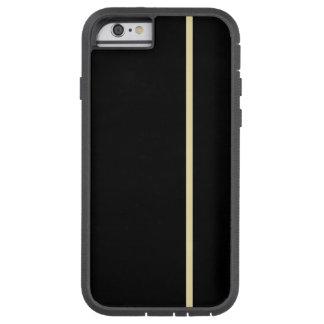 Fodrar den tunna lodrät för vanilj på svart tough xtreme iPhone 6 case
