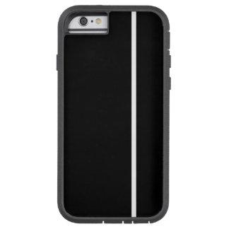 Fodrar den tunna lodrät för vit på svart tough xtreme iPhone 6 case