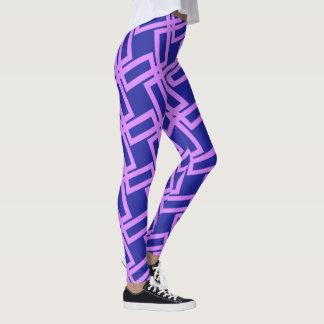 Fodrar purpurfärgade geometriska för lavendel leggings