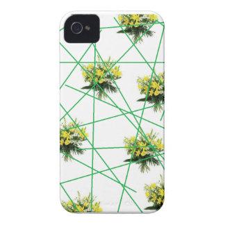 Fodrat blackberry boldfodral för vintage blommigt iPhone 4 Case-Mate fodral