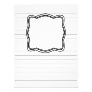 Fodrat handstilpapper med bilden boxas brevhuvud