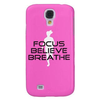 Fokusera tro andas den kvinnliga springer galaxy s4 fodral