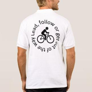 """Följ"""" att cykla för manar poloskjortor, """"bly- polo tröja"""