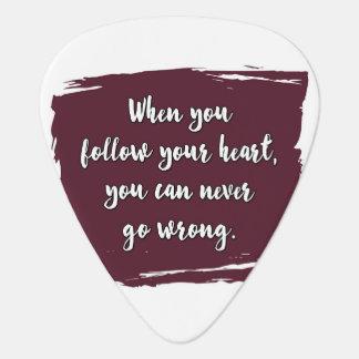 Följ din hjärta plektrum