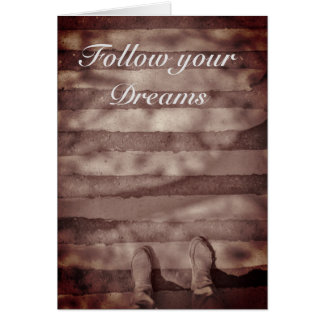 Följ ditt inspirera kort för drömmar