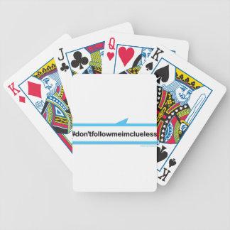 Följ inte mig den korkade I-förmiddagen Spel Kort
