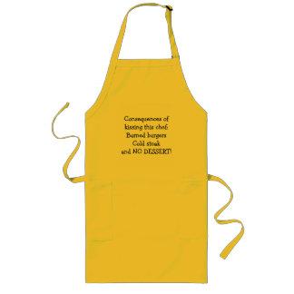 Följder av att kyssa denna kock! långt förkläde