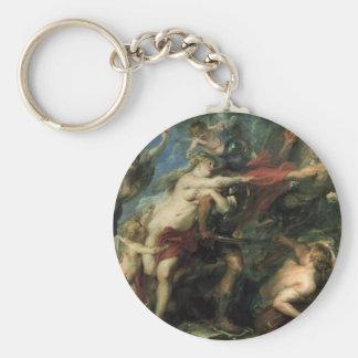 Följderna av krig av Peter Paul Rubens Rund Nyckelring