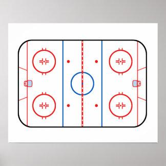 Följe för lek för hockey för isisbanadiagram poster