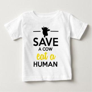 Folk & husdjur - spara en ko äter en människa tee shirt