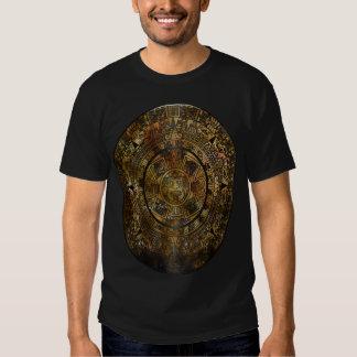 Folk konst för Aztec kalender T-shirt