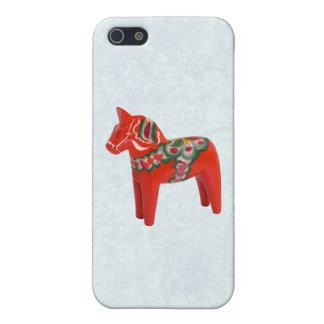Folk konst för svensk Dala häst iPhone 5 Fodral
