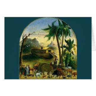 Folk konst för vintageVictorian, Noahs ark vid Hälsningskort