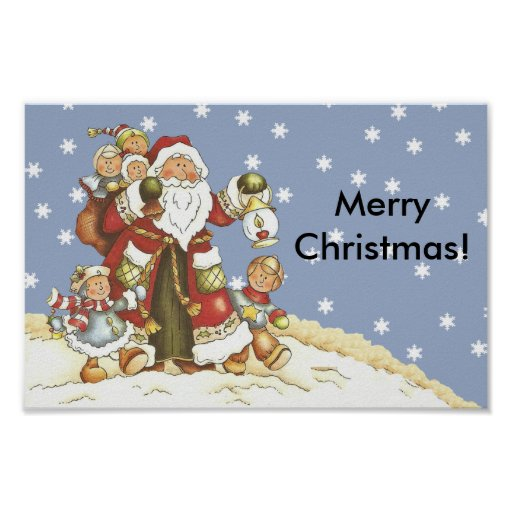 Folk konst Santa lurar julsnöflingor