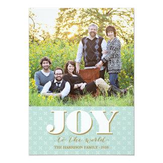 Folk kort för foto för glädjejulkorthelgdag 12,7 x 17,8 cm inbjudningskort