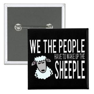 Folk och Sheeple - politisk humor Knappar