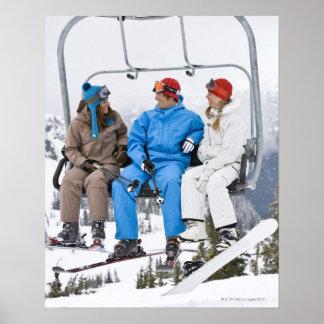Folk på skidliften, whistler-Blackcomb, britt Poster