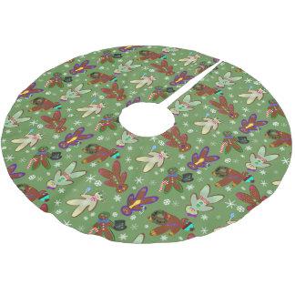 folk & snöflingor för U-plocka färgpepparkaka Julgransmatta Borstad Polyester