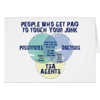 Folk som får betald till handlag ditt skräp! hälsningskort