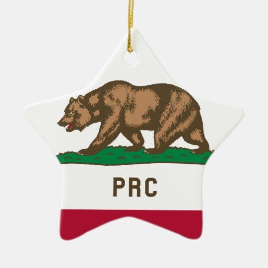 Folkets republik av Kalifornien Julgransprydnad Keramik