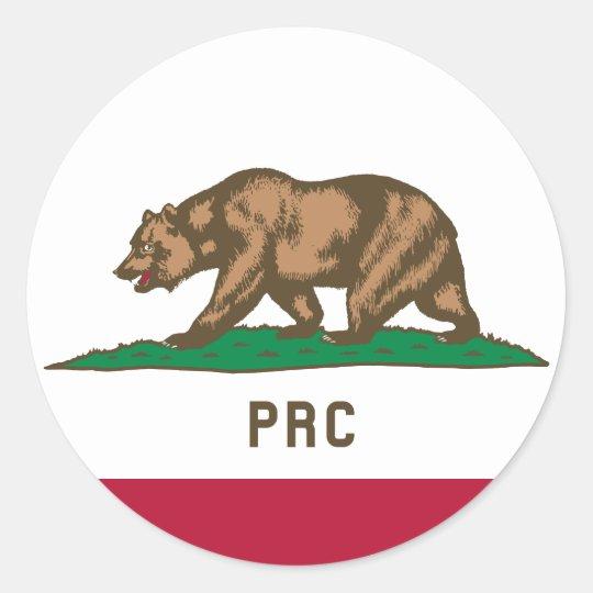 Folkets republik av Kalifornien Runt Klistermärke