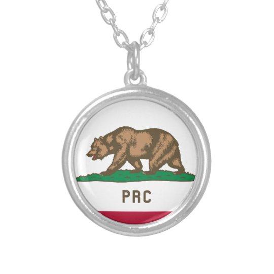 Folkets republik av Kalifornien Silverpläterat Halsband