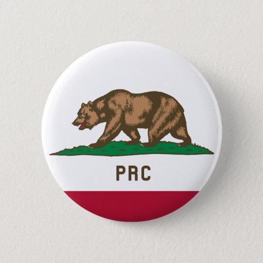 Folkets republik av Kalifornien Standard Knapp Rund 5.7 Cm
