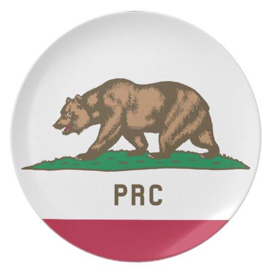 Folkets republik av Kalifornien Tallrik